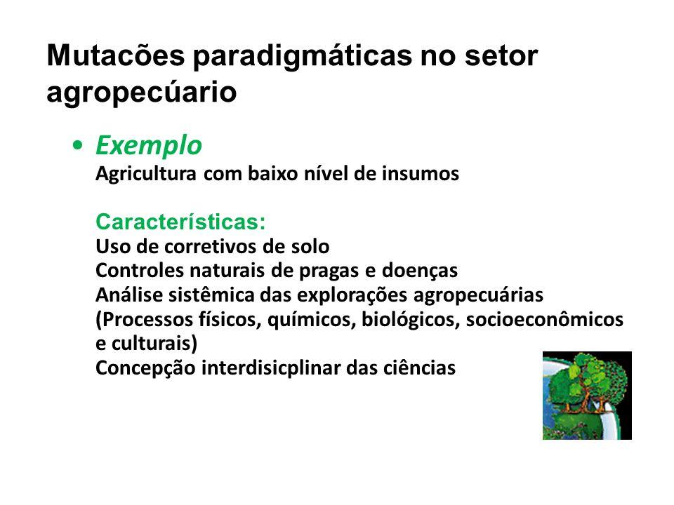 Mutacões paradigmáticas no setor agropecúario