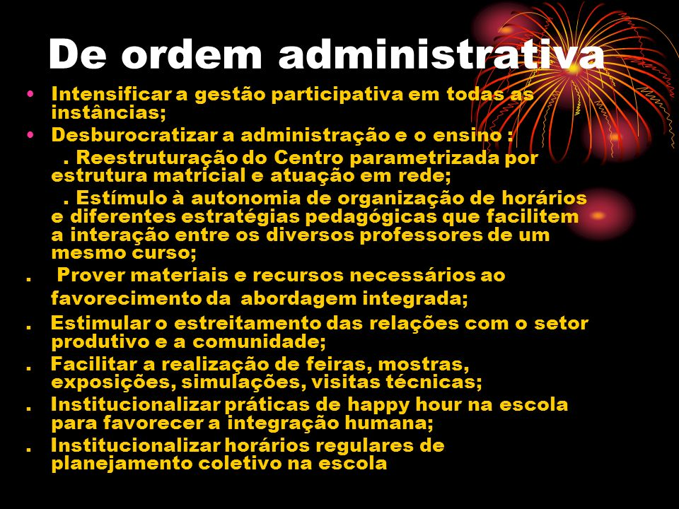 De ordem administrativa