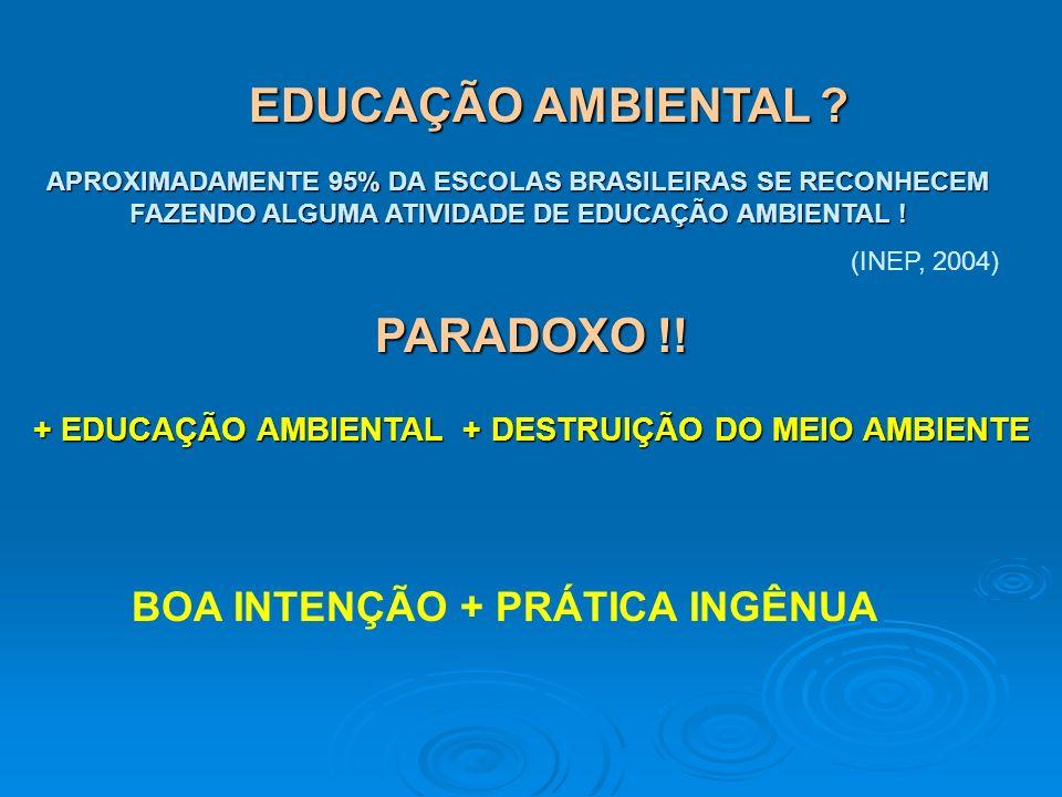 EDUCAÇÃO AMBIENTAL PARADOXO !!