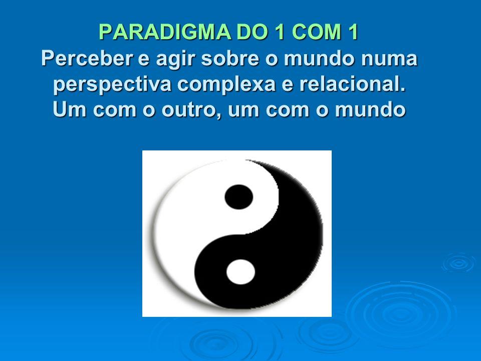 PARADIGMA DO 1 COM 1 Perceber e agir sobre o mundo numa perspectiva complexa e relacional.