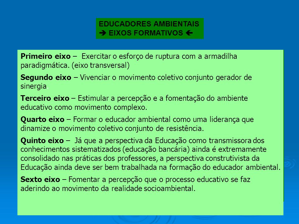EDUCADORES AMBIENTAIS