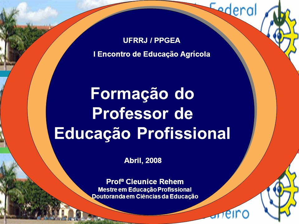 Formação do Professor de Educação Profissional