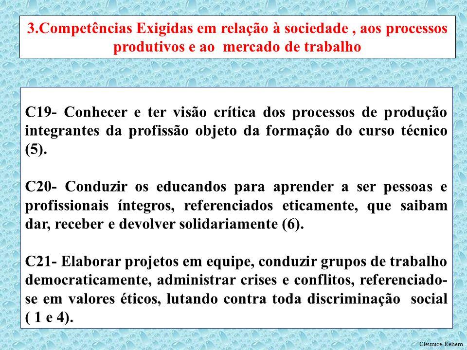 3.Competências Exigidas em relação à sociedade , aos processos produtivos e ao mercado de trabalho