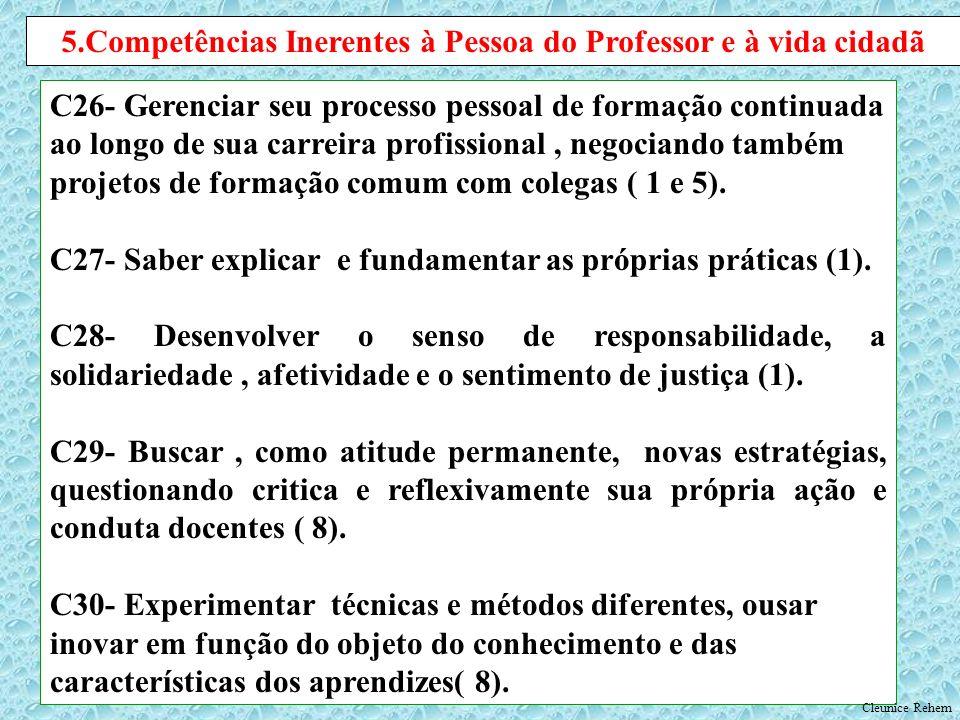 5.Competências Inerentes à Pessoa do Professor e à vida cidadã
