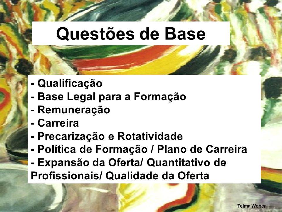 Questões de Base - Qualificação - Base Legal para a Formação