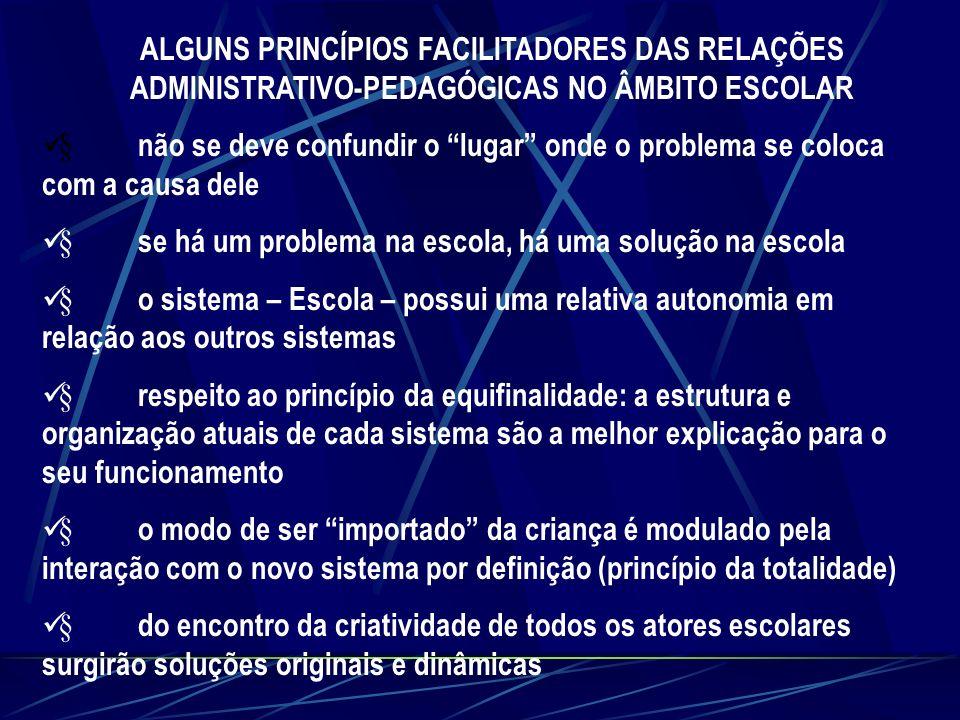 ALGUNS PRINCÍPIOS FACILITADORES DAS RELAÇÕES ADMINISTRATIVO-PEDAGÓGICAS NO ÂMBITO ESCOLAR