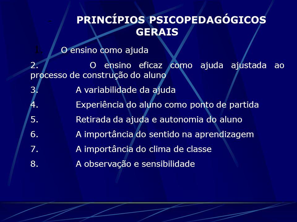 - PRINCÍPIOS PSICOPEDAGÓGICOS GERAIS