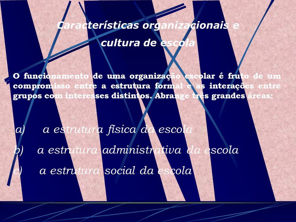 Características organizacionais e