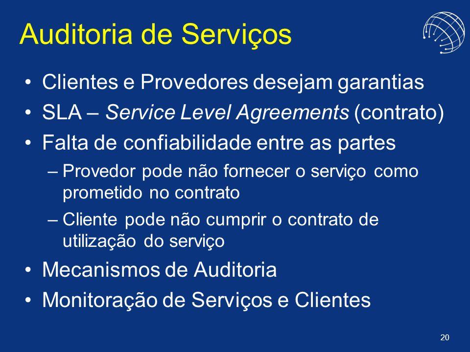 Auditoria de Serviços Clientes e Provedores desejam garantias