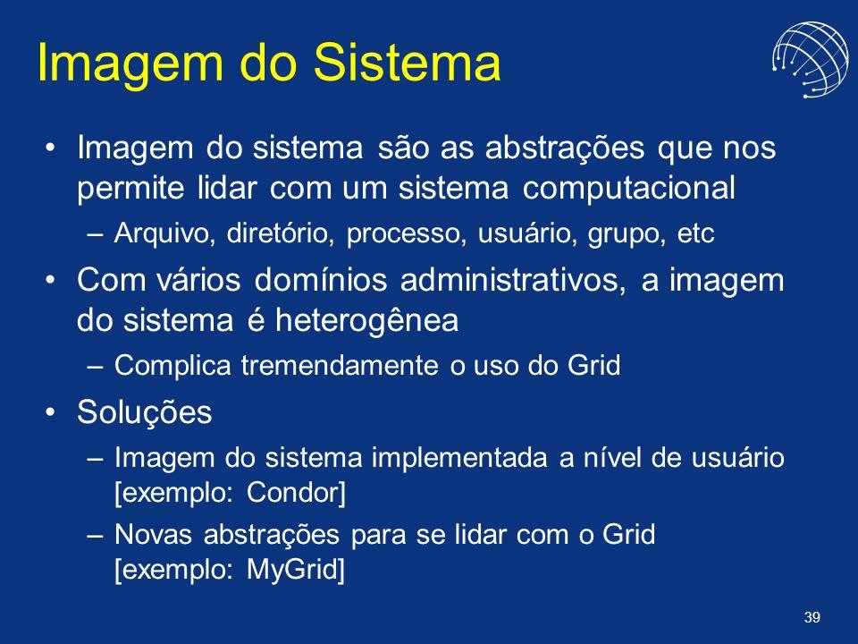 Imagem do Sistema Imagem do sistema são as abstrações que nos permite lidar com um sistema computacional.