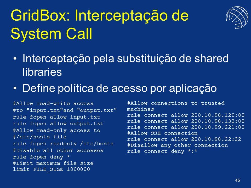 GridBox: Interceptação de System Call