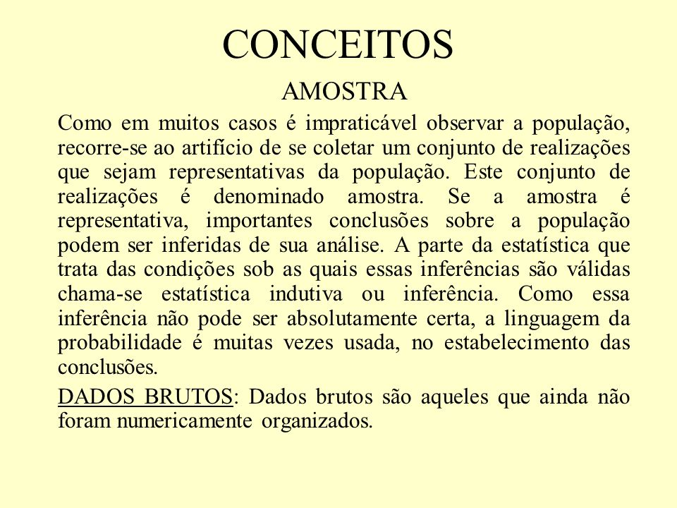 CONCEITOS AMOSTRA.