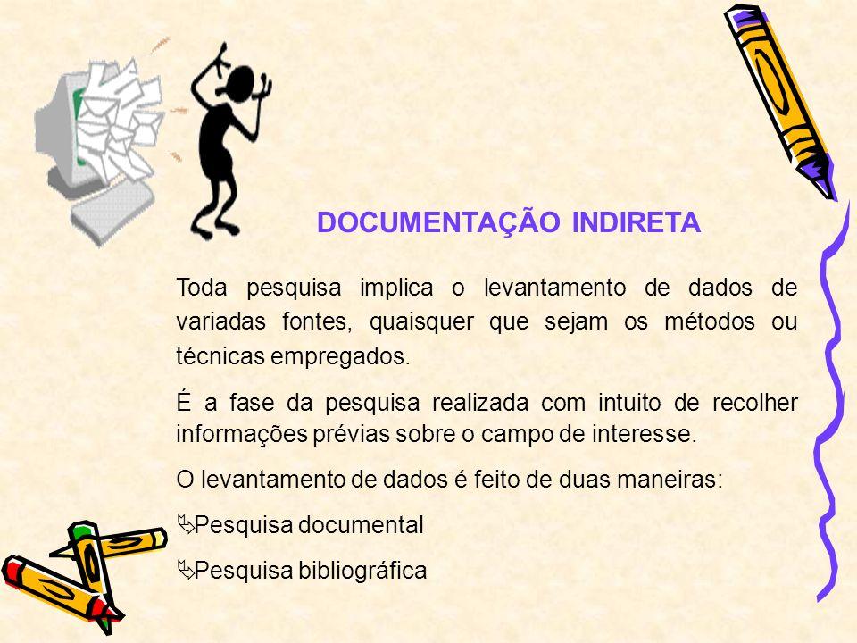 DOCUMENTAÇÃO INDIRETA