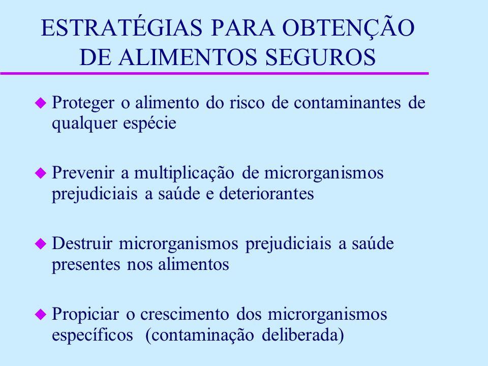 ESTRATÉGIAS PARA OBTENÇÃO DE ALIMENTOS SEGUROS