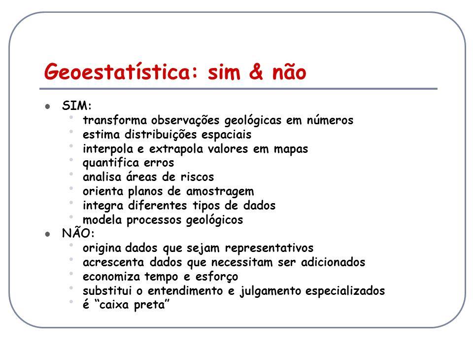 Geoestatística: sim & não