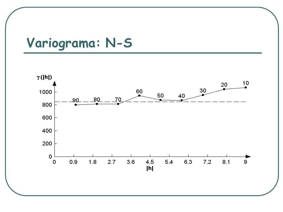 Variograma: N-S