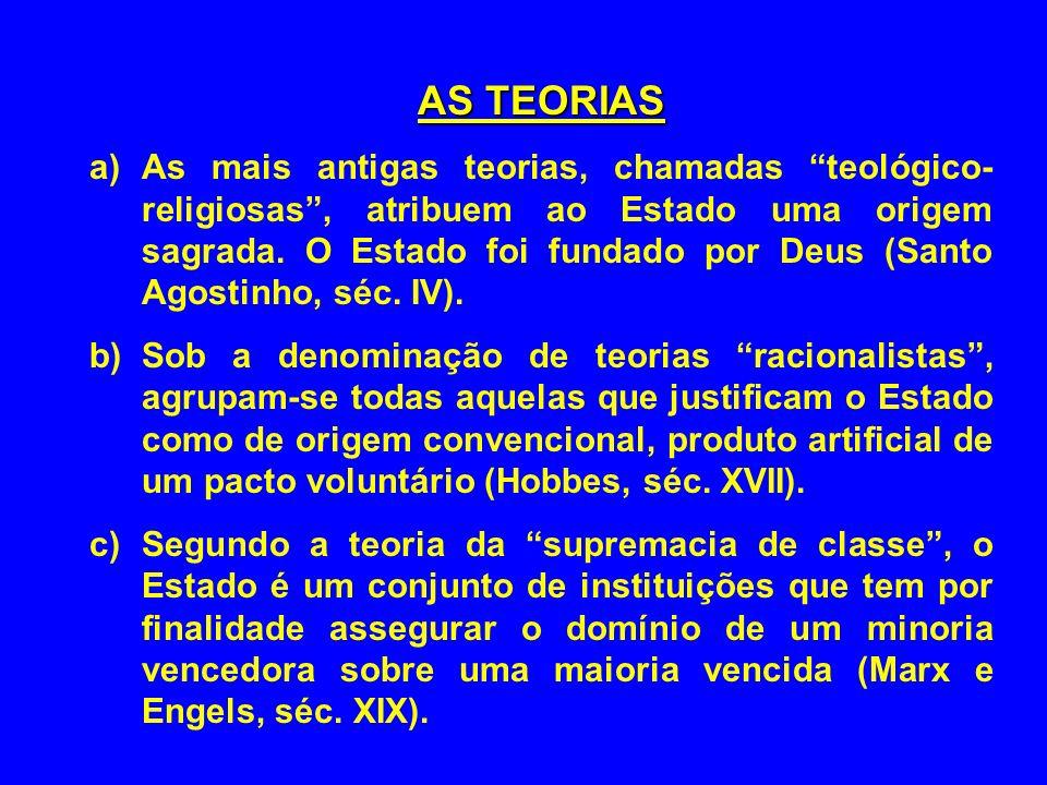 AS TEORIAS