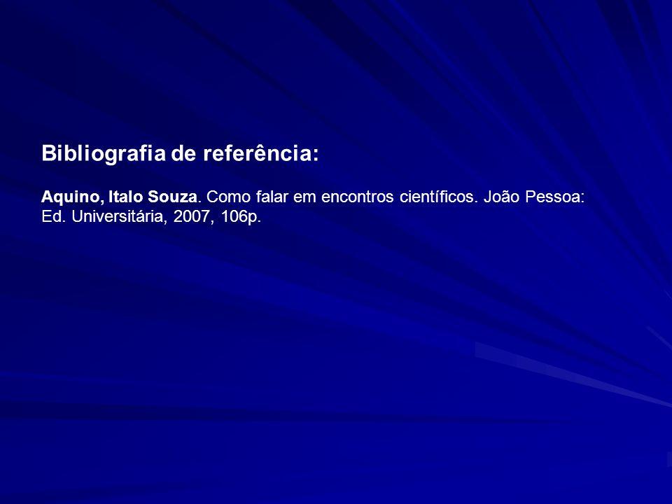 Bibliografia de referência: