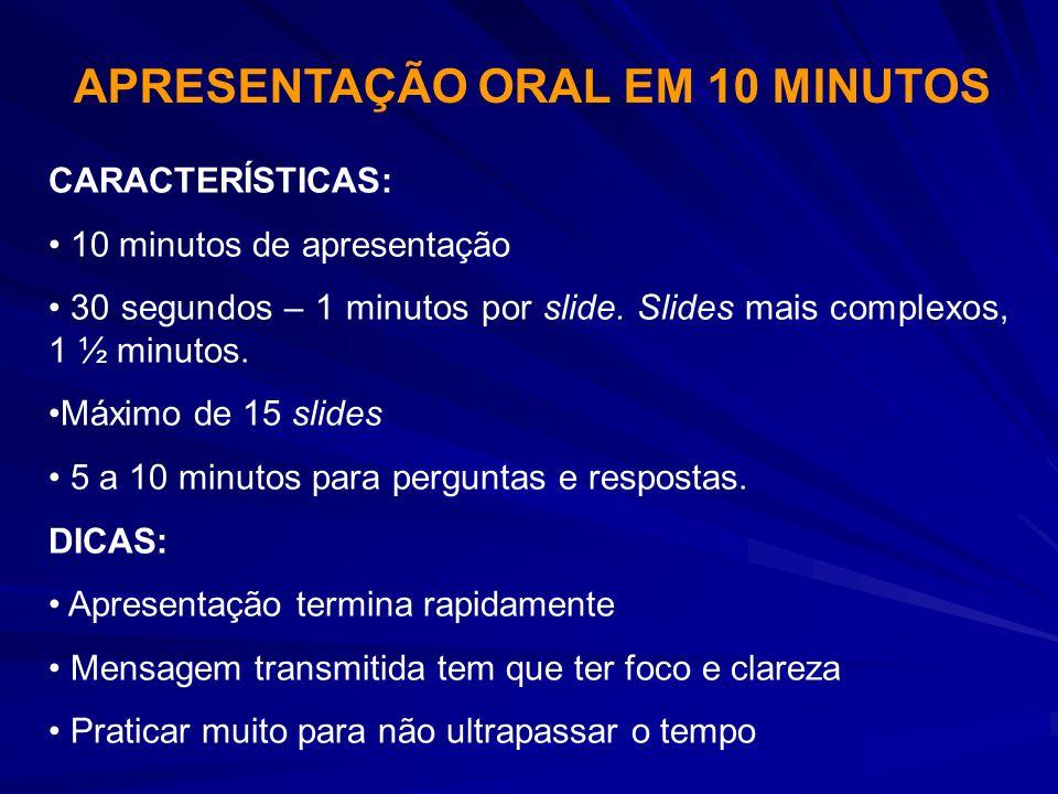 APRESENTAÇÃO ORAL EM 10 MINUTOS