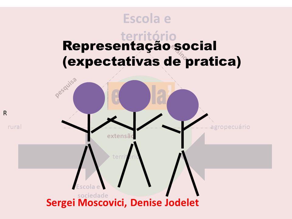 Escola e território Representação social (expectativas de pratica)