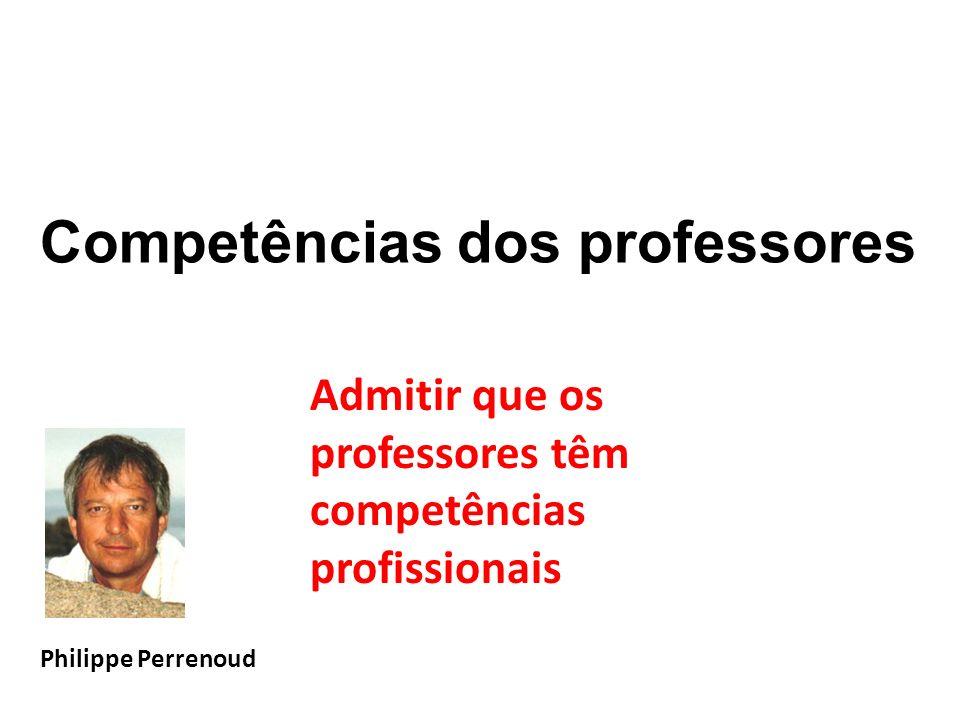 Competências dos professores