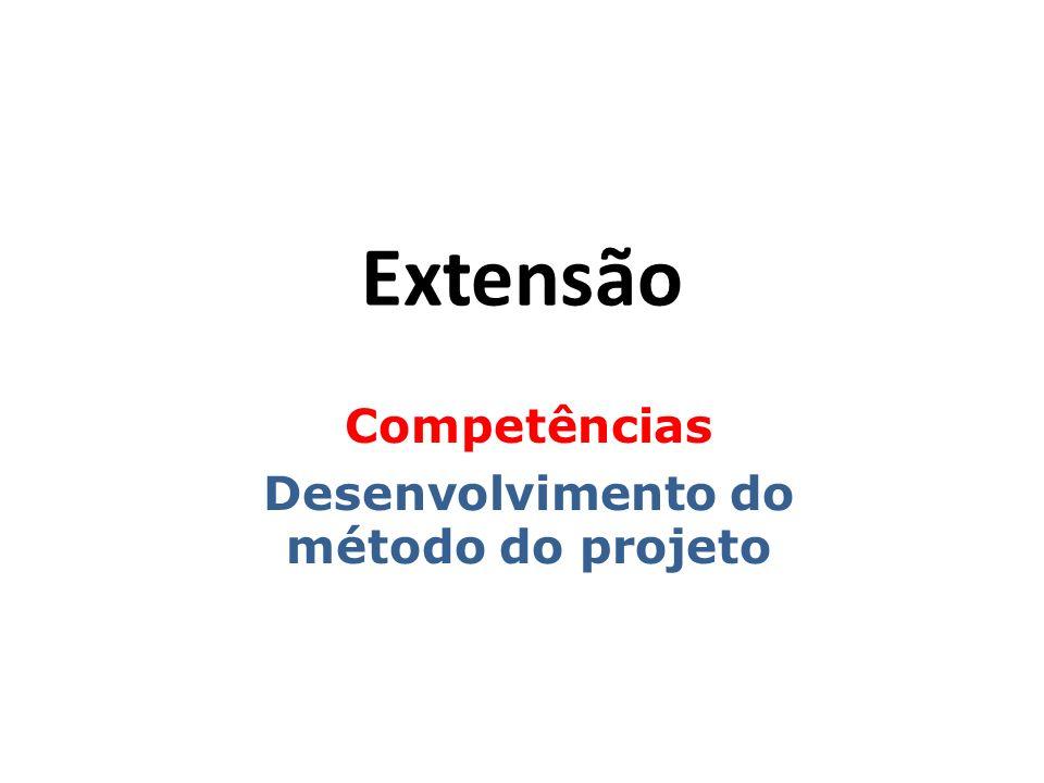 Competências Desenvolvimento do método do projeto