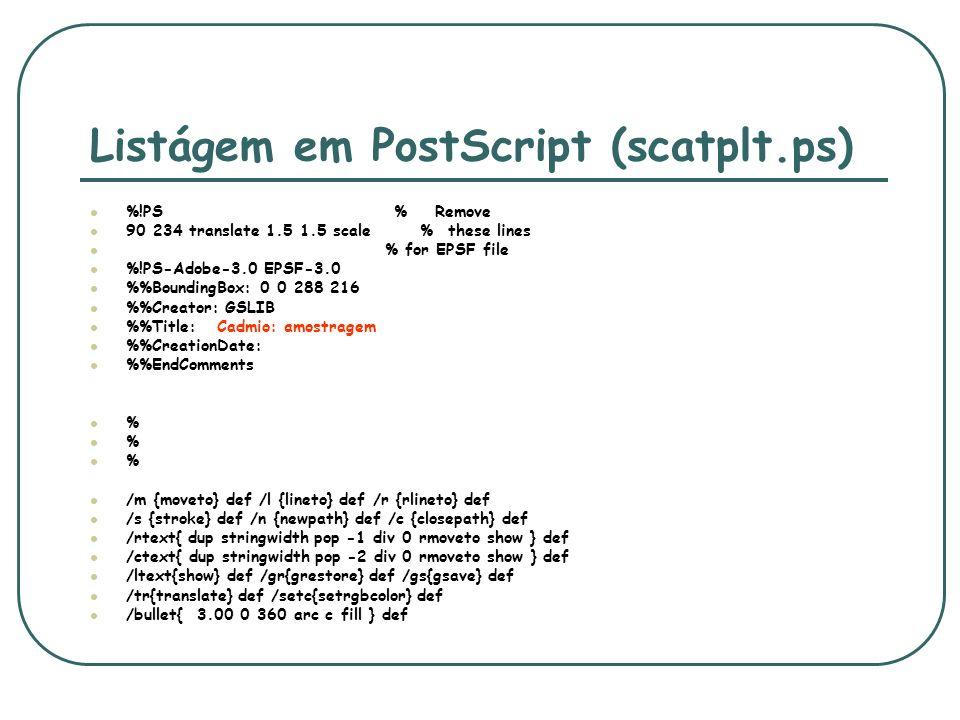 Listágem em PostScript (scatplt.ps)