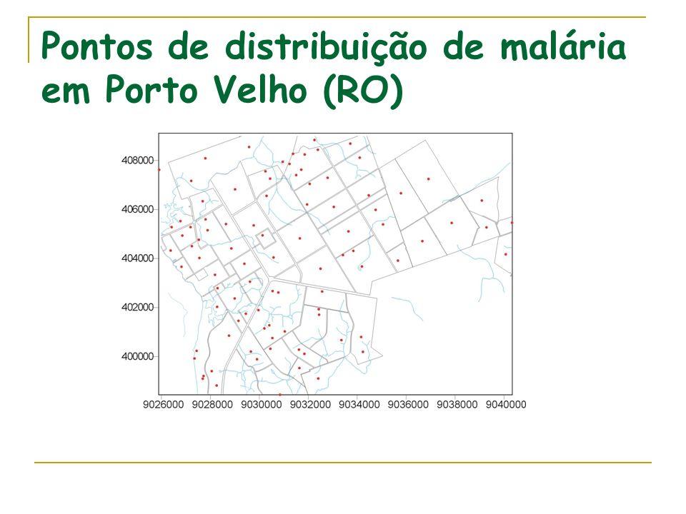 Pontos de distribuição de malária em Porto Velho (RO)