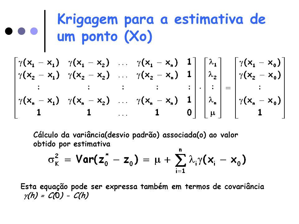 Krigagem para a estimativa de um ponto (Xo)