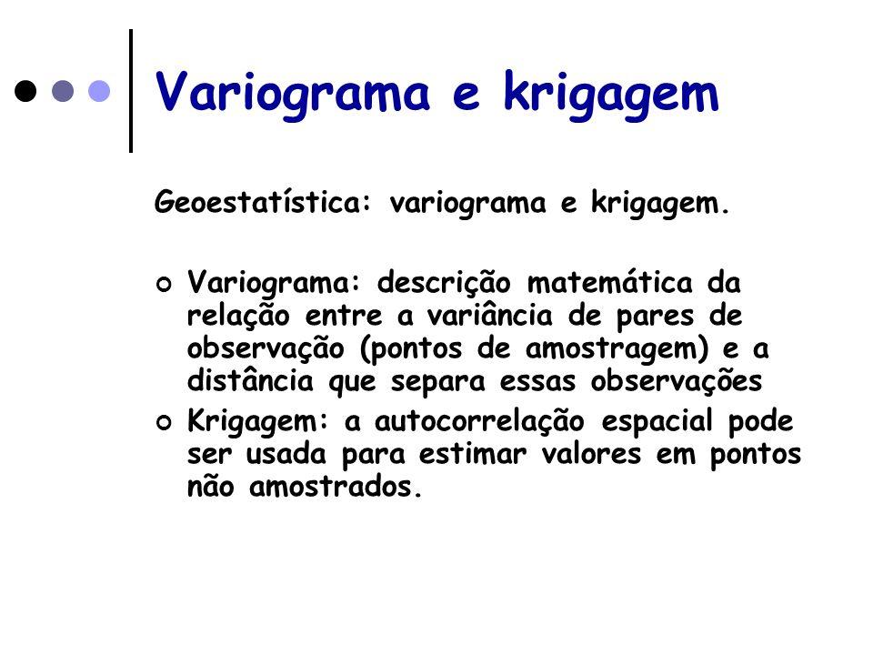 Variograma e krigagem Geoestatística: variograma e krigagem.