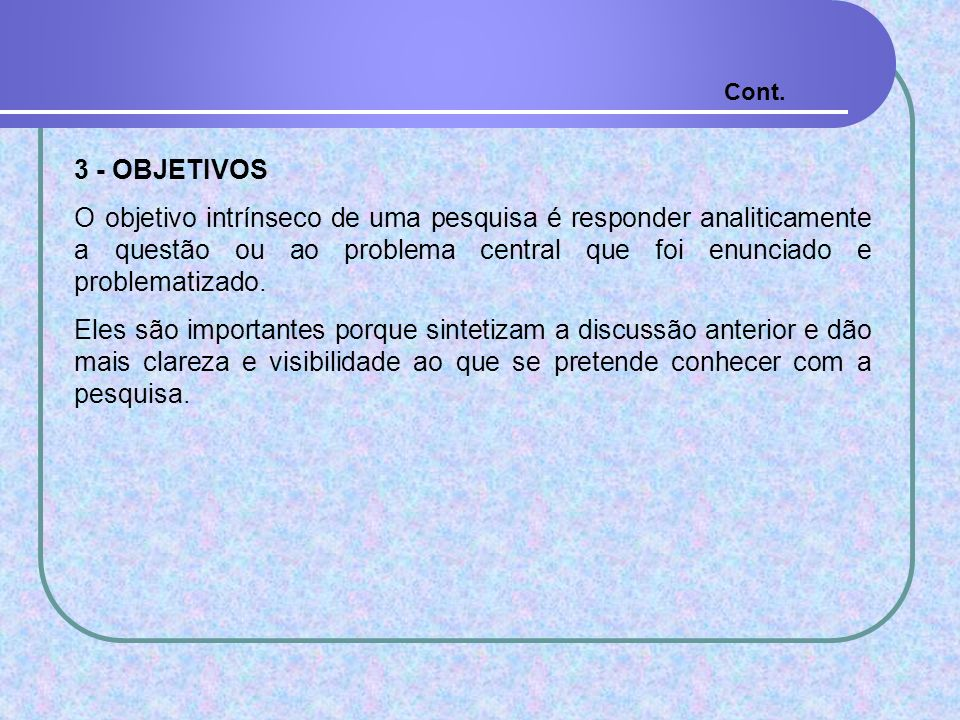 Cont. 3 - OBJETIVOS.