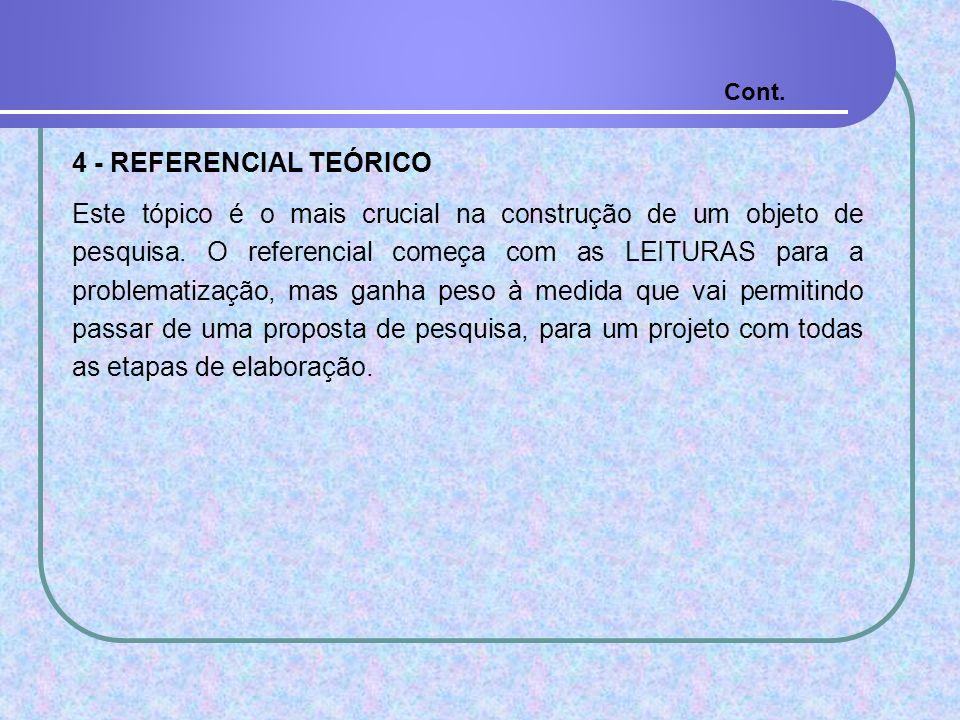 Cont.4 - REFERENCIAL TEÓRICO.