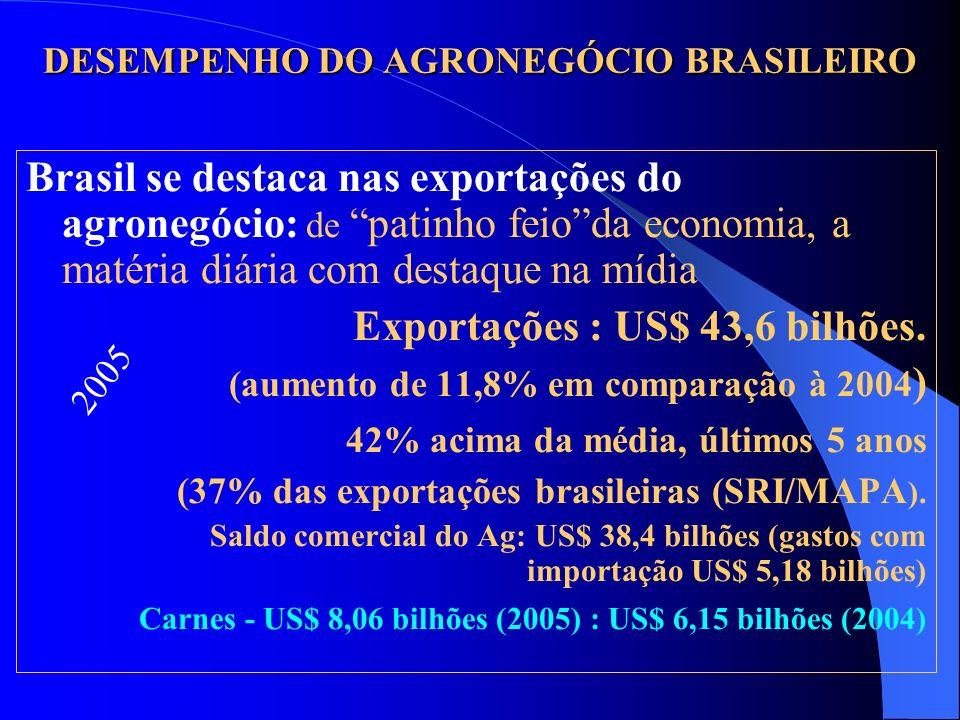 DESEMPENHO DO AGRONEGÓCIO BRASILEIRO