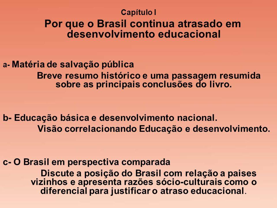 Visão correlacionando Educação e desenvolvimento.