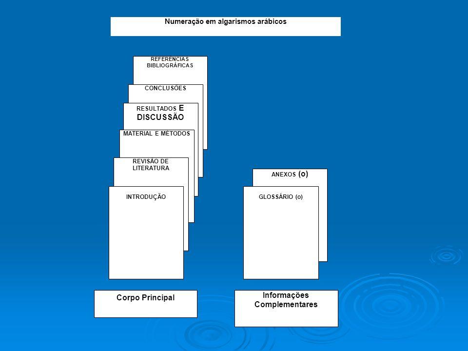 Corpo Principal Informações Complementares