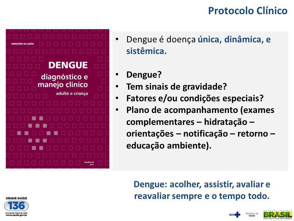Dengue: acolher, assistir, avaliar e reavaliar sempre e o tempo todo.