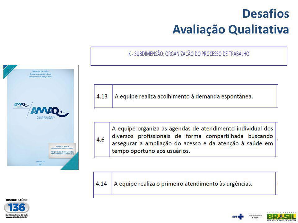 Desafios Avaliação Qualitativa