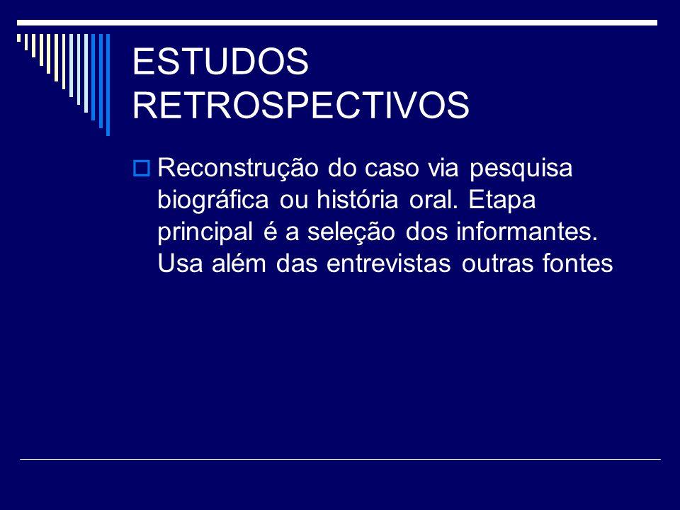 ESTUDOS RETROSPECTIVOS