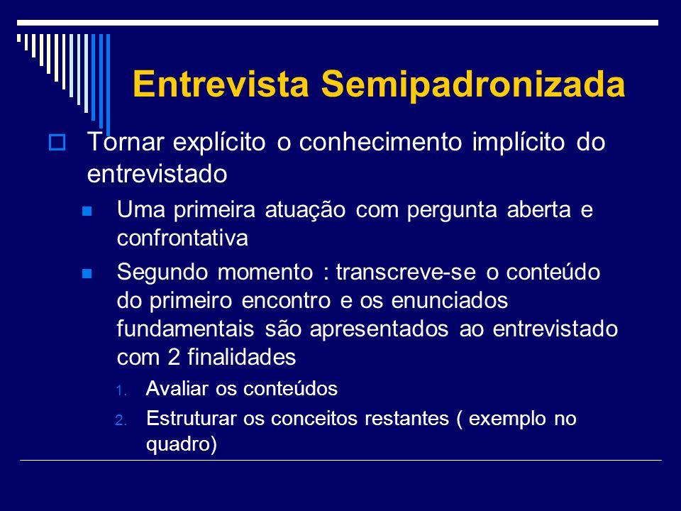 Entrevista Semipadronizada