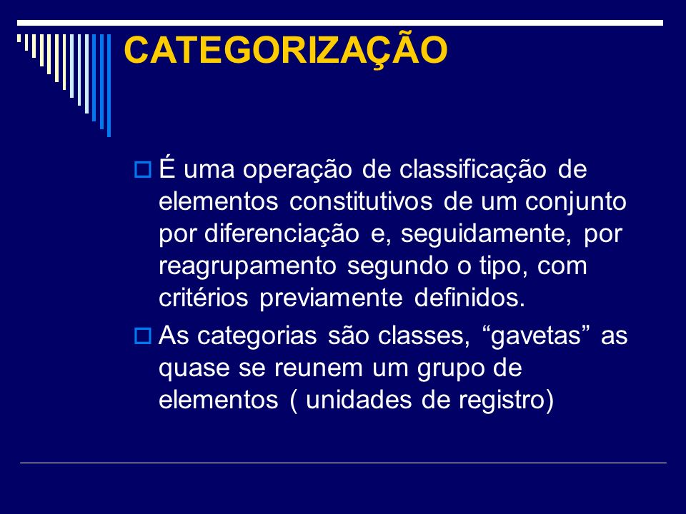 CATEGORIZAÇÃO