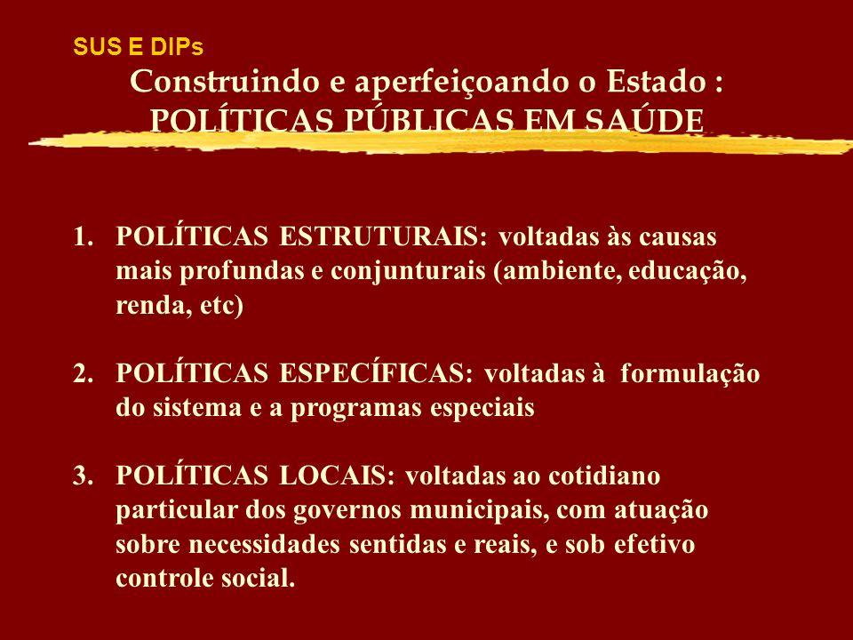 Construindo e aperfeiçoando o Estado : POLÍTICAS PÚBLICAS EM SAÚDE