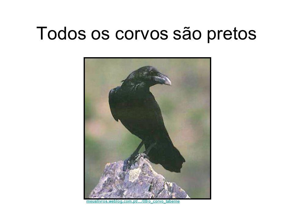 Todos os corvos são pretos