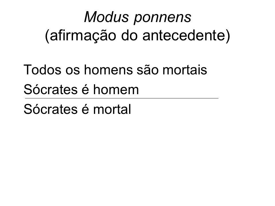Modus ponnens (afirmação do antecedente)
