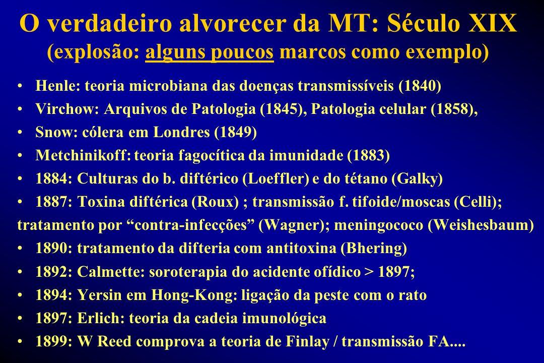 O verdadeiro alvorecer da MT: Século XIX (explosão: alguns poucos marcos como exemplo)