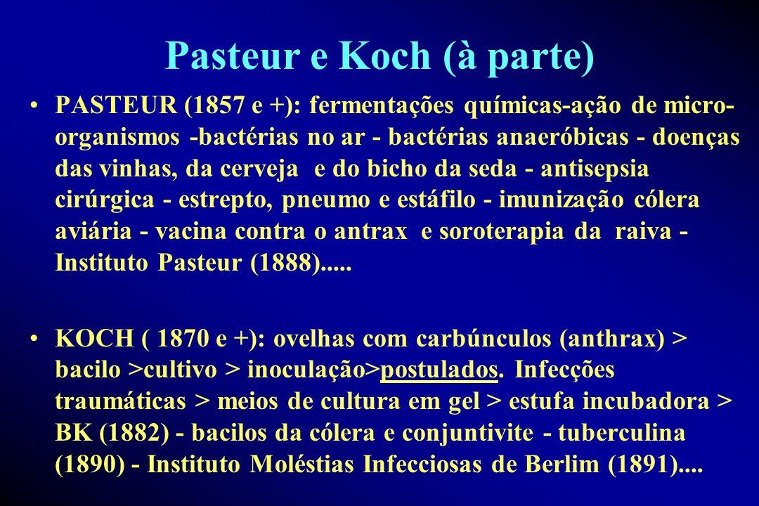 Pasteur e Koch (à parte)
