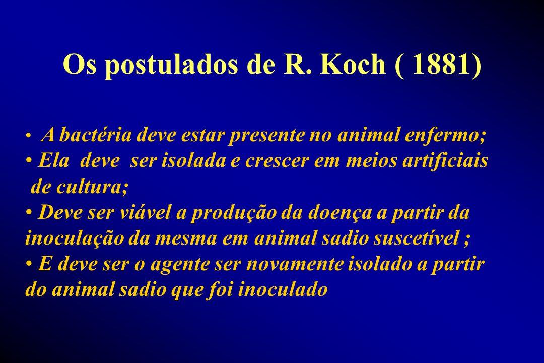Os postulados de R. Koch ( 1881)