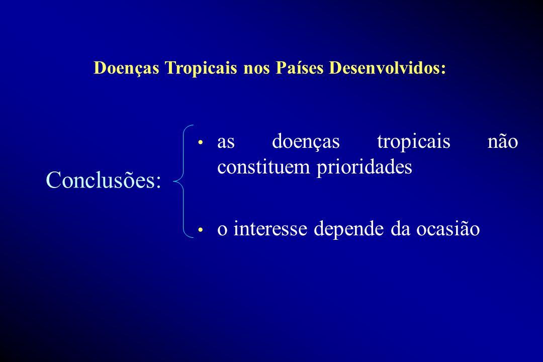 Conclusões: as doenças tropicais não constituem prioridades