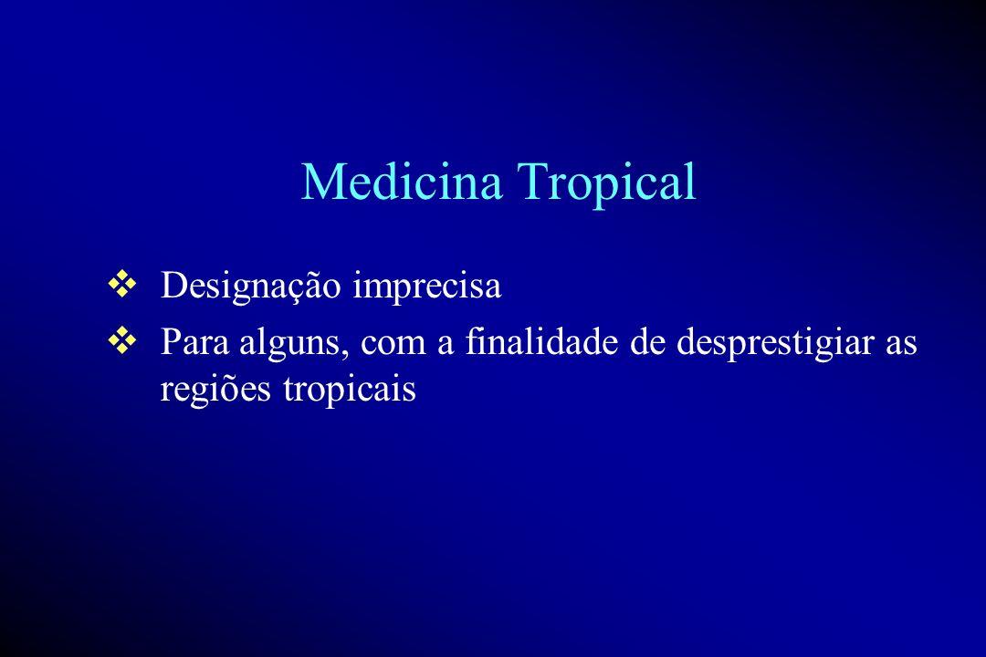 Medicina Tropical Designação imprecisa
