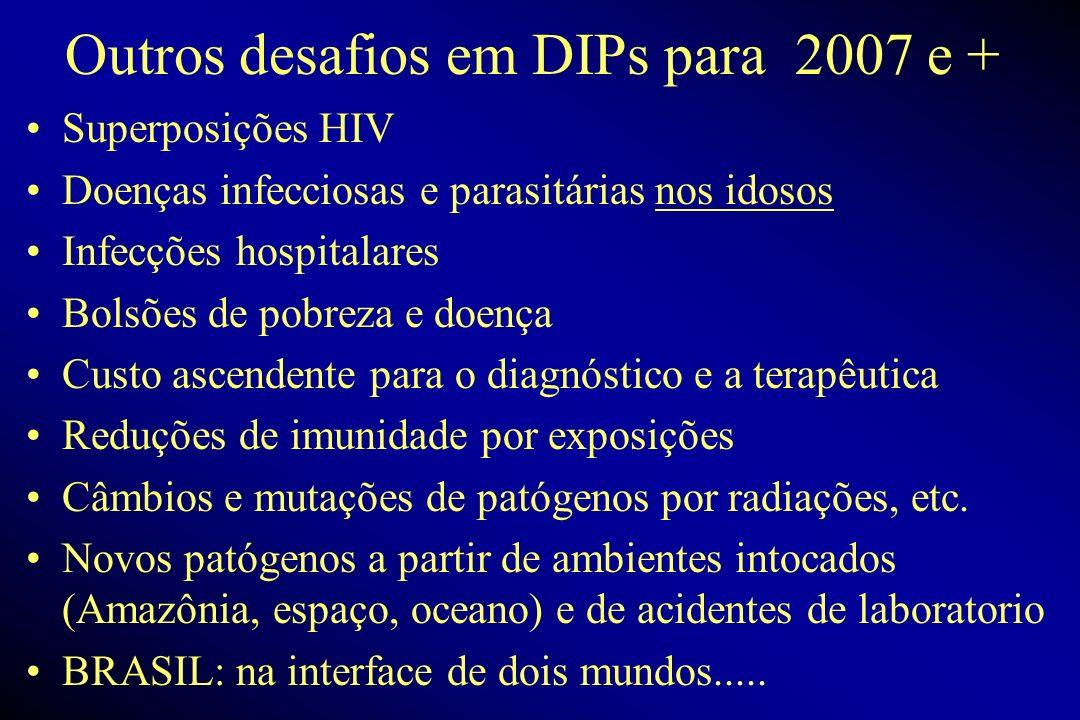 Outros desafios em DIPs para 2007 e +