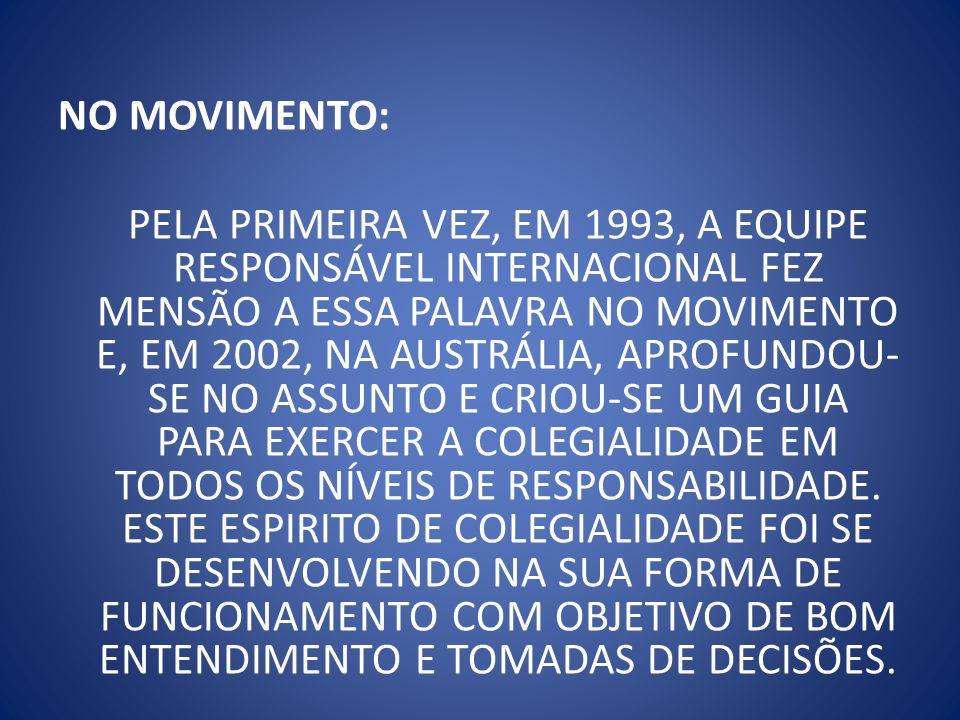NO MOVIMENTO: